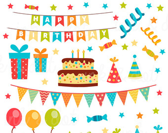 Pendent clipart party banner Clipart Cake Birthday Supplies Scrapbook