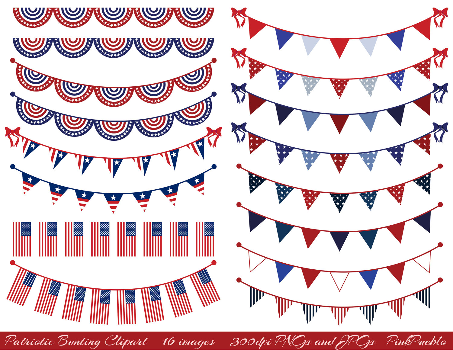 Pendent clipart patriotic banner Commercial Art Bunting Clipart Clip