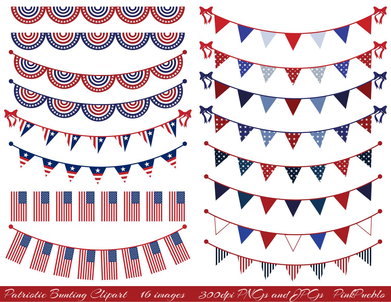 Pendent clipart patriotic banner Bunting Clipart Art Patriotic Clip