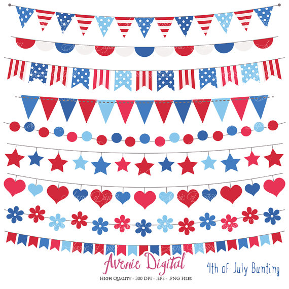 Pendent clipart patriotic banner Eps Banner printable Scrapbook banners