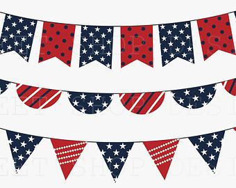 Pendent clipart patriotic banner Art Clip Etsy 4th Clip