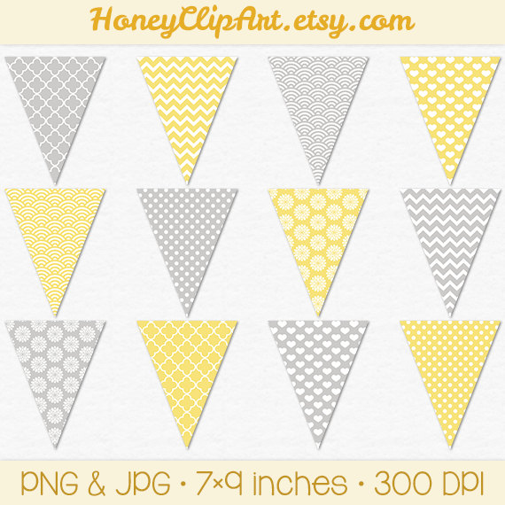 Pendent clipart polka dot Heart and bunting with banner
