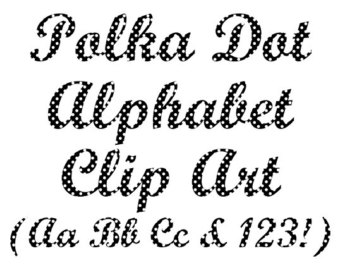 Pendent clipart polka dot Clip Polka Alphabet Dot Clip