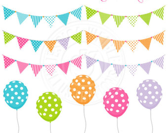 Pendent clipart polka dot Art dot Banners Bunting Cute