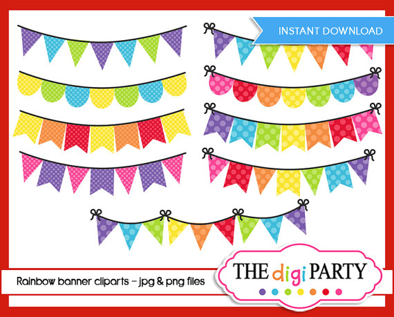 Pendent clipart rainbow banner Set use download clip cliparts