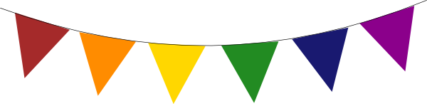 Pendent clipart rainbow banner Clker vector online image