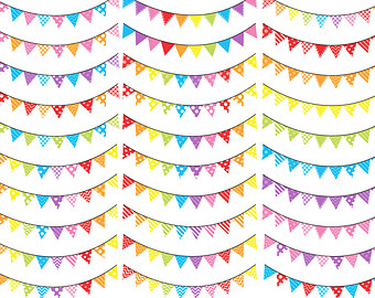 Pendent clipart rainbow banner Garland candy Etsy Digital clipart