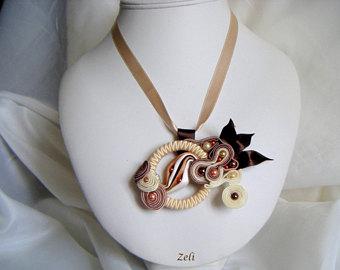 Pendent clipart ribbon Pendant Ribbon shibori soutache and