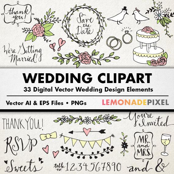 Wedding clipart rustic Hand rustic wedding clip Wedding