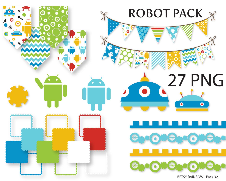 Robot clipart robot gear #7