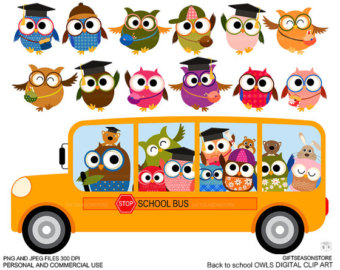 Pendent clipart school banner Owl by INSTANT Personal and
