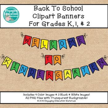 Pendent clipart school banner Are only for Welcome 9