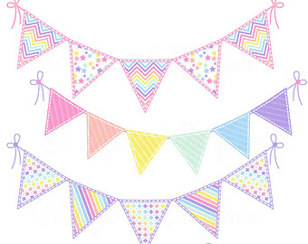 Bunting clipart triangle banner Pennant Banner Triangle Clipart Bunting