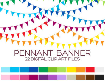Birthday clipart pennant Flags Clipart for / banner