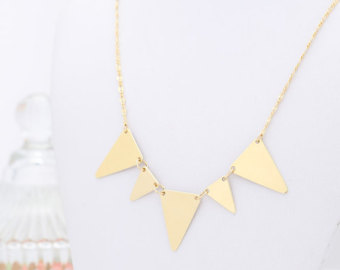 Pendent clipart triangle thing Everyday Triangle Triangle Delicate Etsy