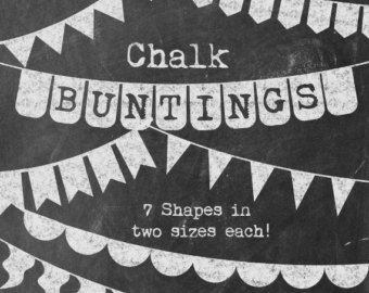 Pendent clipart weekend banner Versatile Chalk Chalkboard Bunting Buntings