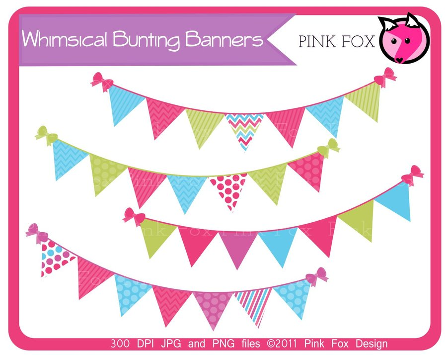 Pendent clipart weekend banner Clip Border  Banner Bunting