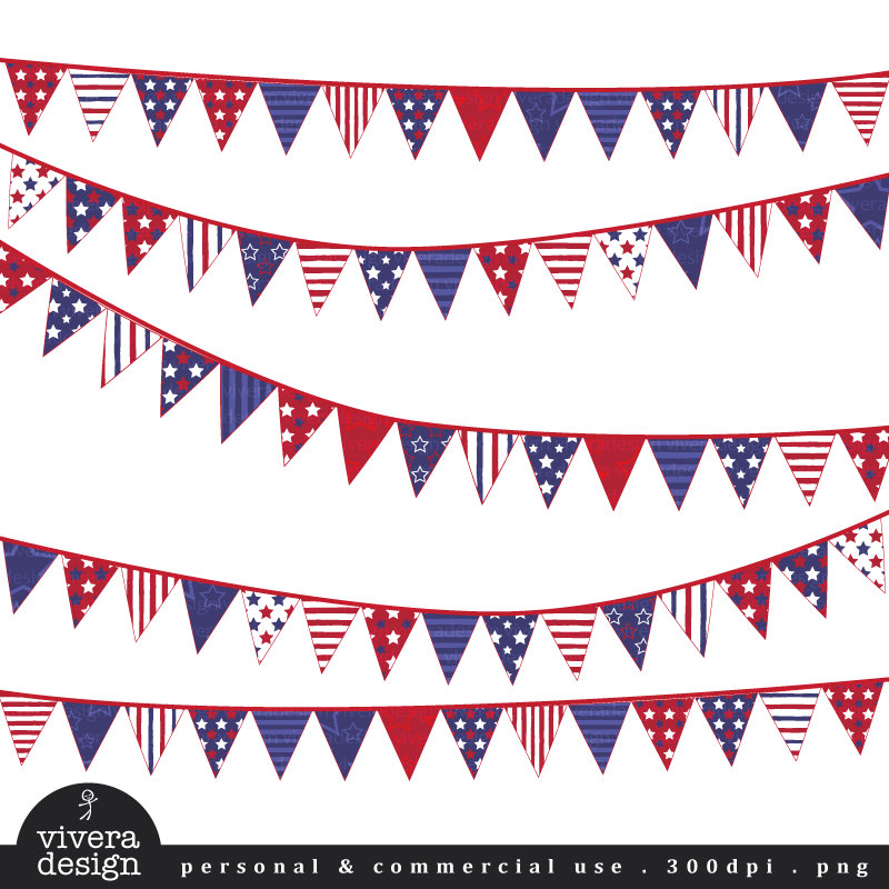 Pendent clipart weekend banner Fourth Digital Art July Banners