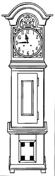 Cliparts Black White Clipart Clock