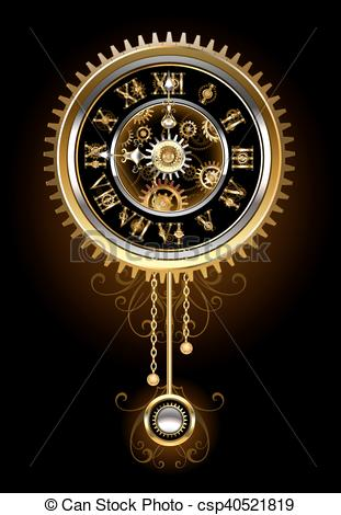 Pendulum clipart gold Clock csp40521819 Vector Pendulum of