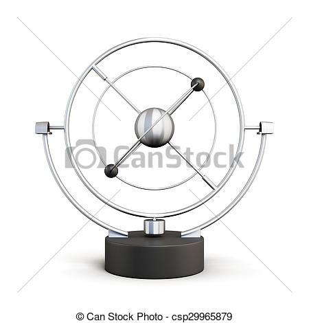 Pendulum clipart motion Background on pendulum Stock isolated