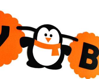 Penguin clipart banner Penguin Penguin Etsy theme Penguin