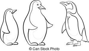 Antarctica clipart black and white Art Antarctic contours 417 emperor