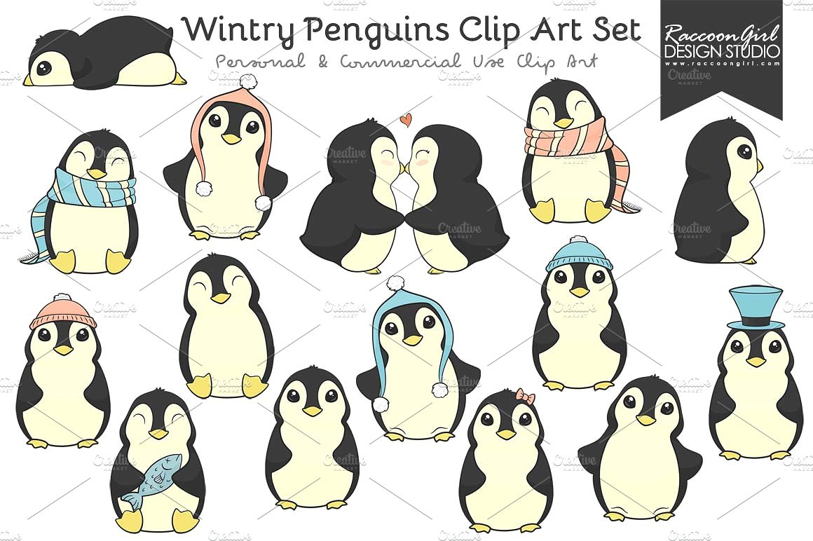 Penguin clipart circus Art Wintry Themes Photos Cute