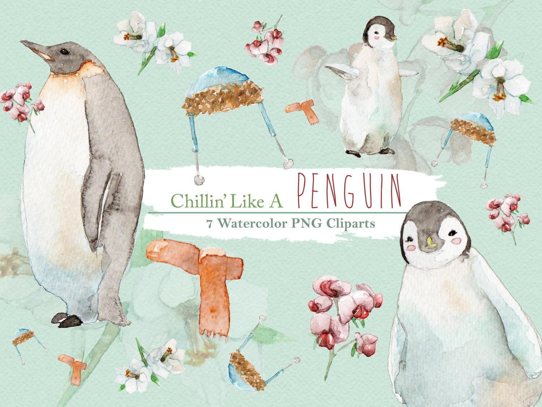 Penguin clipart circus Penguin Like Animal Watercolor Cute