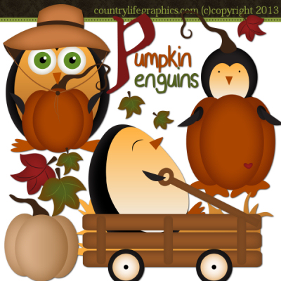 Penguin clipart country Life Penguins Pumpkin Country Graphics