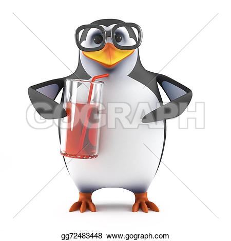Penguin clipart drinking Glass Drawing Clipart from Drawing