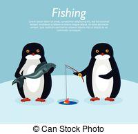 Penguin clipart fish Fish Banner Illustartion of Vector