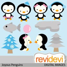 Penguin clipart girly These for Great for set