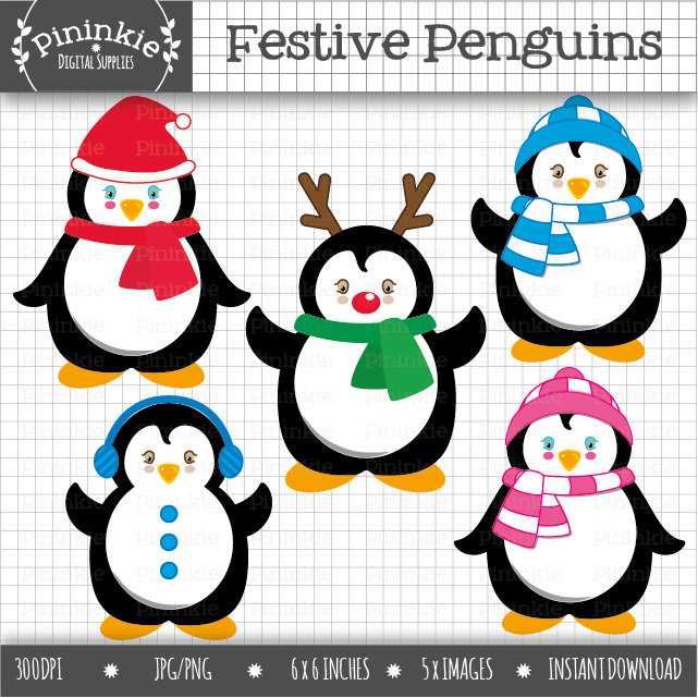 Penguin clipart holiday Clipart Clipart Christmas file is