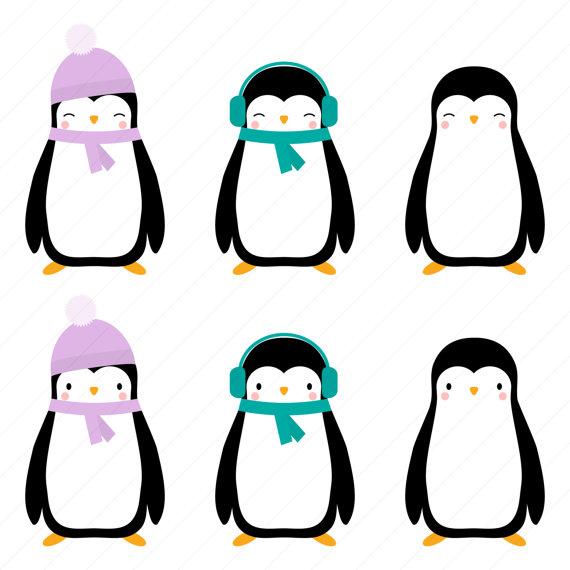 Penguin clipart home Digital Clipart Christmas Christmas Penguin