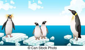 Penguin clipart iceberg clipart Vector standing Penguins csp17481366 Illustration
