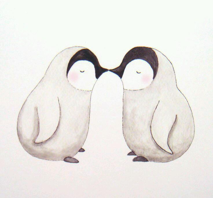 Penguin clipart kiss Penguins Irina on Penguins Pin