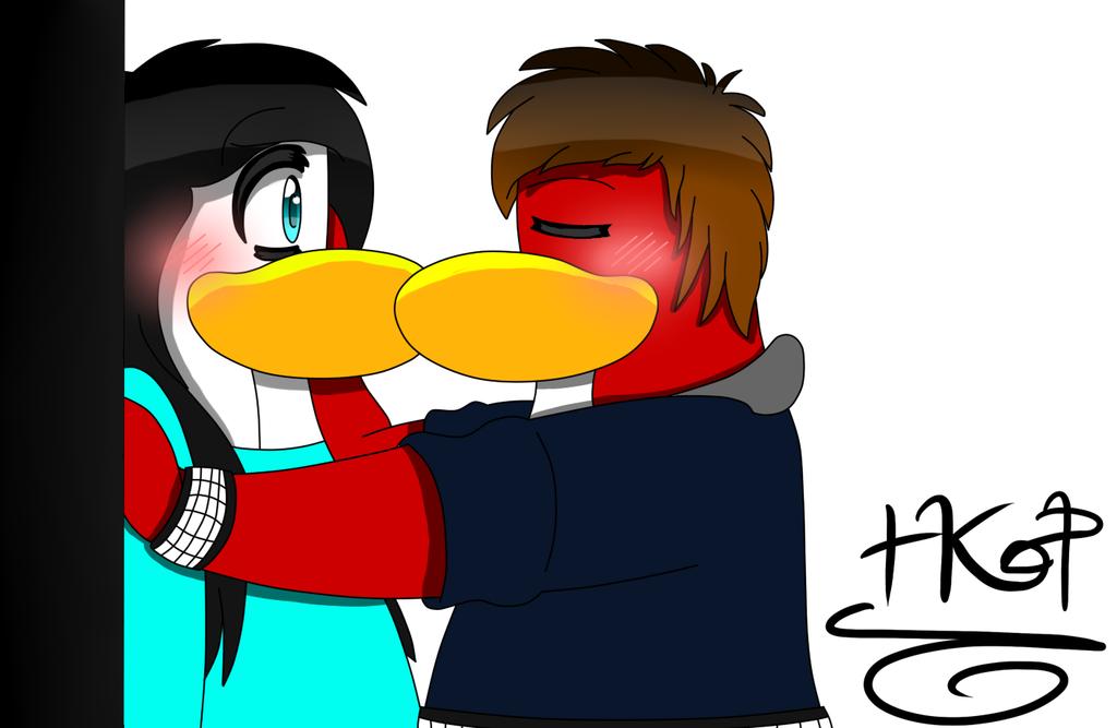Penguin clipart kiss Kiss~ drawing kiss~ penguin club