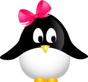 Penguin clipart lady Clipart Penguin Bow Penguin Cute