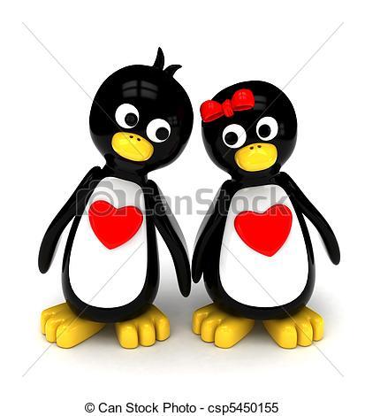 Penguin clipart penguin couple A  Stock Couple Couple