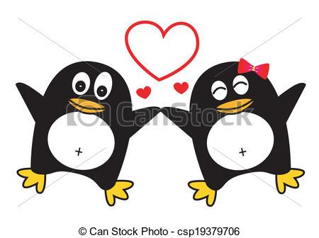 Penguin clipart penguin couple Search Clip csp19379706 Dancing Penguin