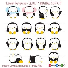 Penguin clipart rain Set penguin Penguin Clipart