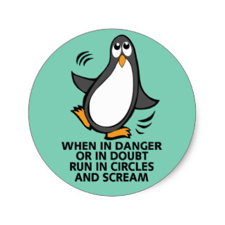 Penguin clipart round For Graphic Funny Danger Clipart