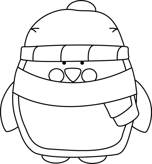 Penguin clipart scarf clipart And  and Penguin Winter