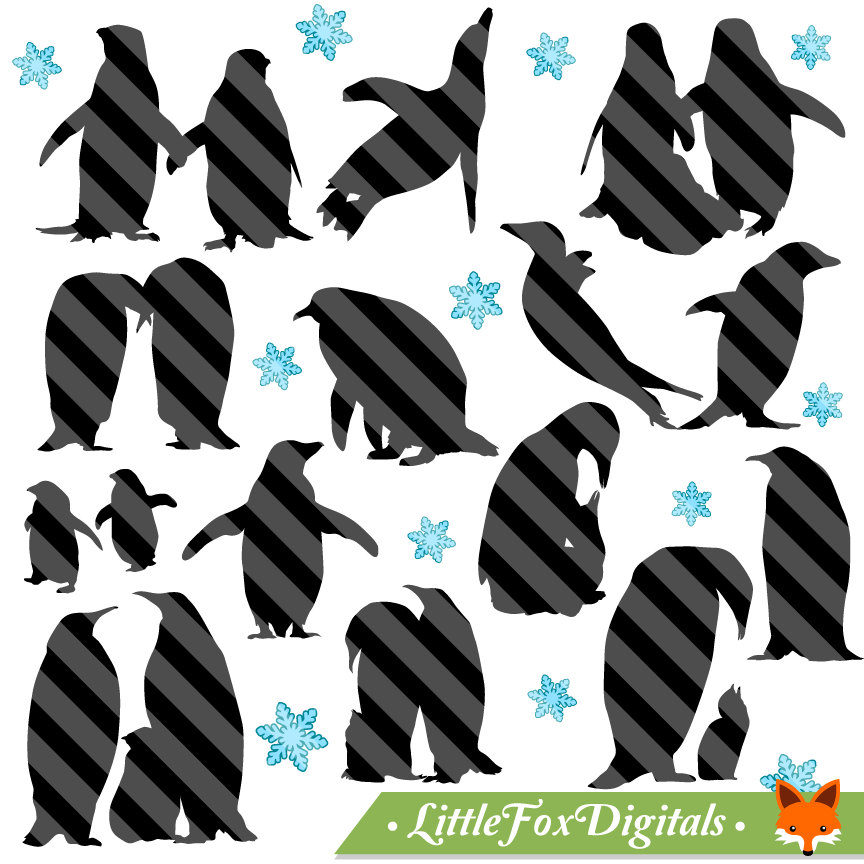 Penguin clipart snow ice A is Artic Silhouette
