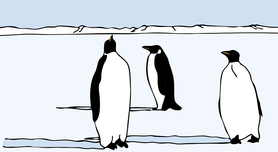 Penguin clipart snow ice Penguins of the Free in