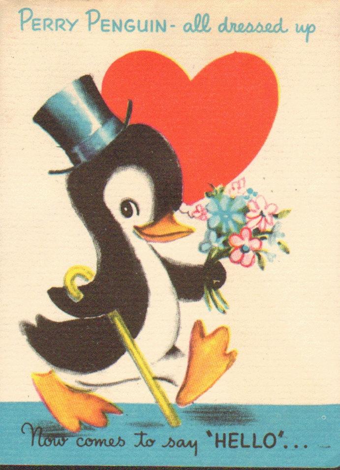 Penguin clipart vintage Dressed Valentine Vintage 17 on
