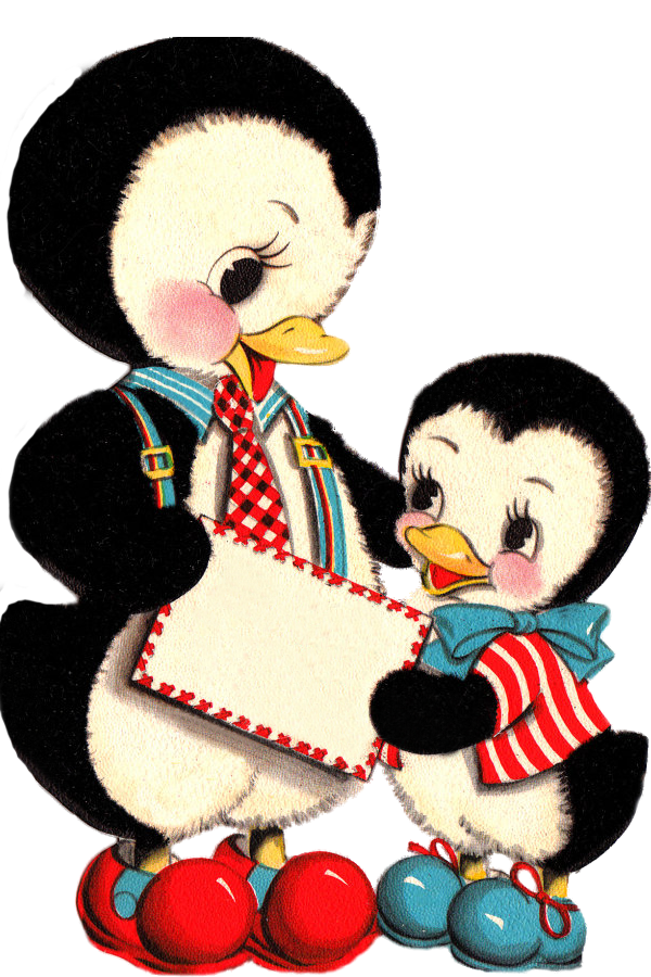 Penguin clipart vintage And I on at of