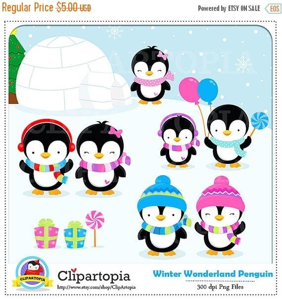 Penguin clipart winter break / penguin OFF Clipart Penguin