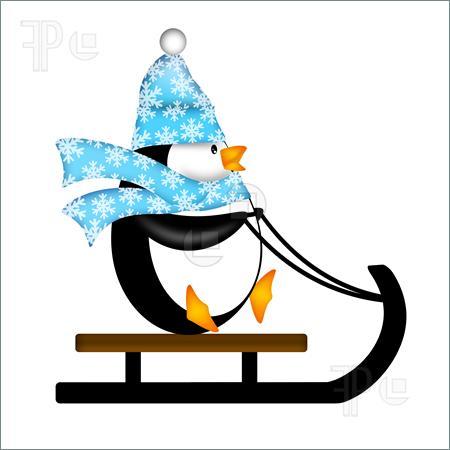 Penguin clipart winter break Art cute collection Clip Winter